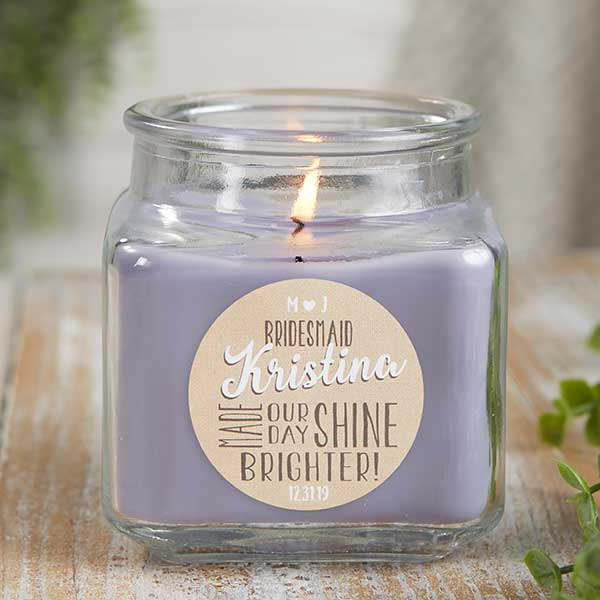 Bridesmaid Personalized Scented Candle Jars - 21908