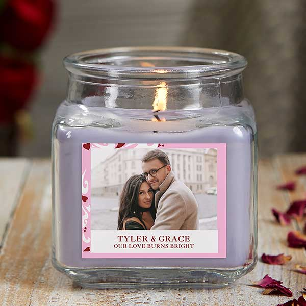 Sweethearts Personalized Photo Candle Jar - 21919