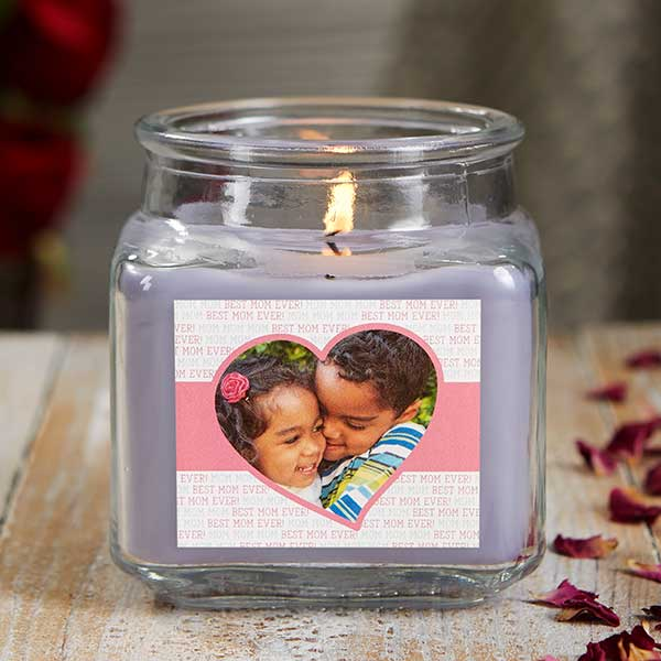 Love You This Much Custom Photo Scented Glass Candle Jars - 21924
