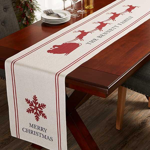 Nostalgic Noel Personalized Table Runner - 21929