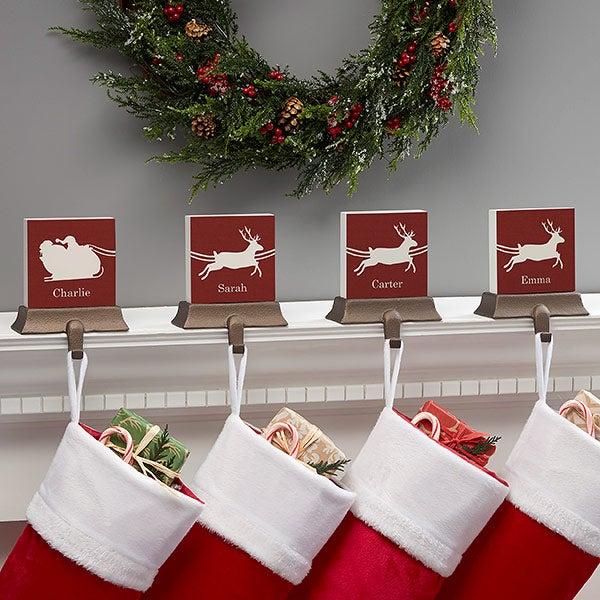 Nostalgic Noel Personalized Stocking Holders - 21951
