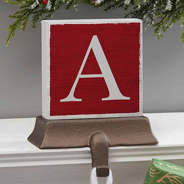 Personalized Festive Letter Stocking Holders - 21952