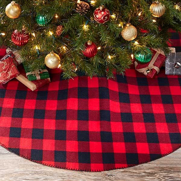 Buffalo Check Plaid Christmas Tree Skirt - 21955