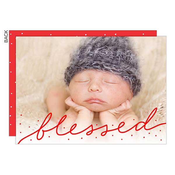 Blessed Photo Overlay Holiday Cards - 21975