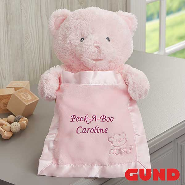 ad774ed481b Personalized Gund My First Peek-A-Boo Teddy Bear - 22002