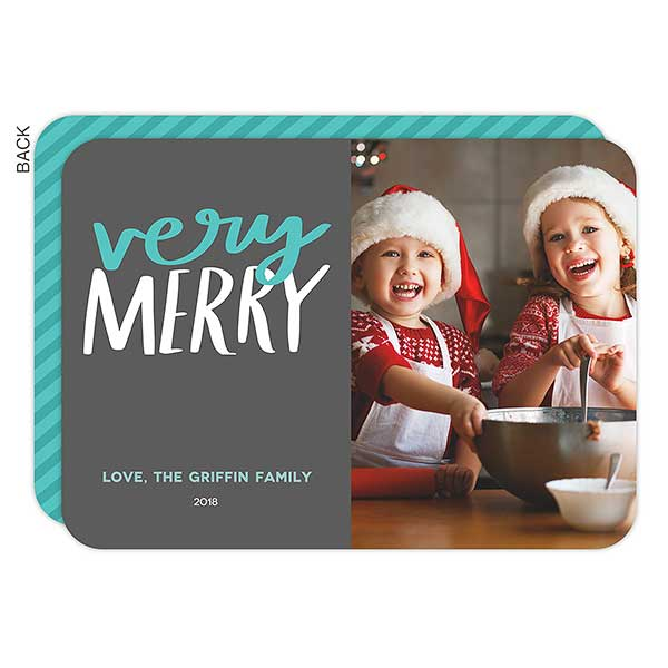 Very Merry Custom Holiday Photo Cards - 22003