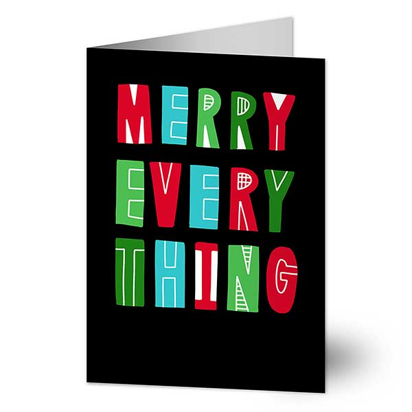 Merry Everything Personalized Holiday Cards - 22016