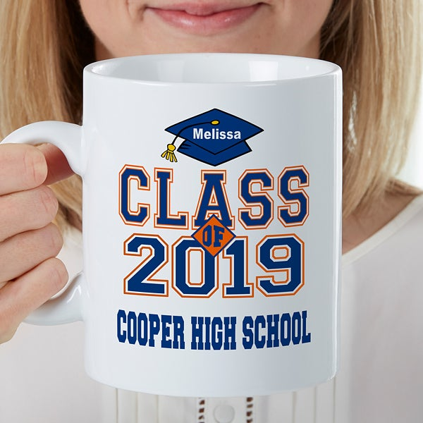 Cheers to the Graduate Personalized Oversized Coffee Mug - 22041