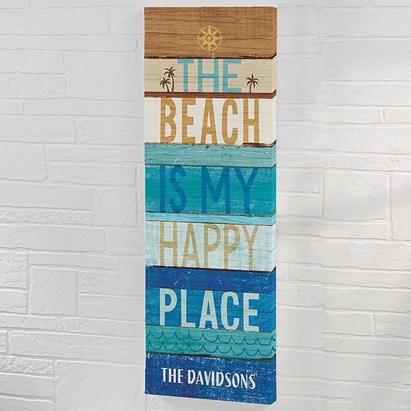 Beachscape Inspiration IV Personalized Canvas Art Print - 22055
