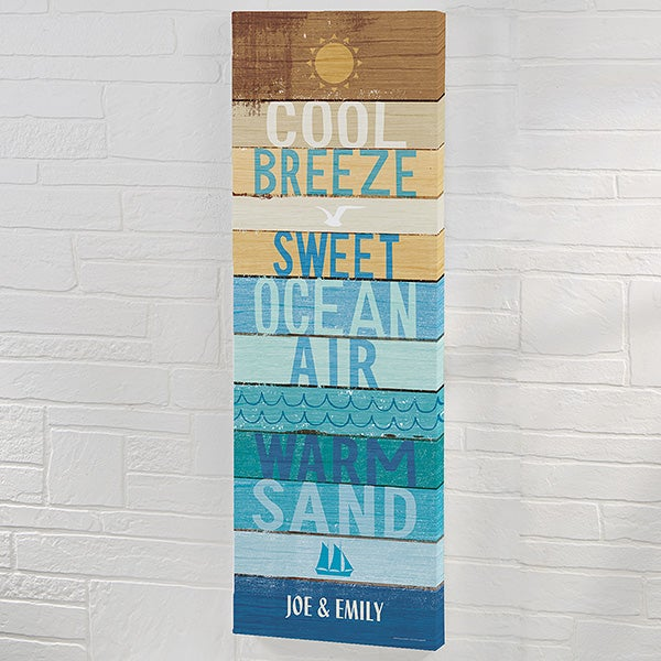 Beachscape Inspiration II Personalized Canvas Art Print - 22057