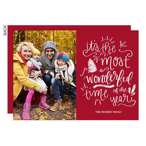 It's The Most Wonderful Time Photo Holiday Cards - 22064