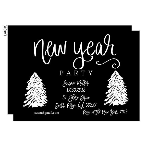 new year personalized party invitations