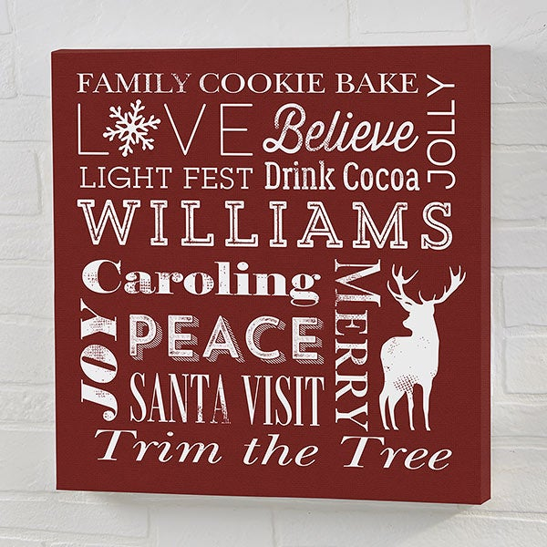 Holiday Traditions Personalized Canvas Prints - 22076
