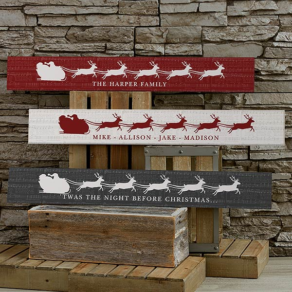 Nostalgic Noel Personalized Wooden Signs - 22079