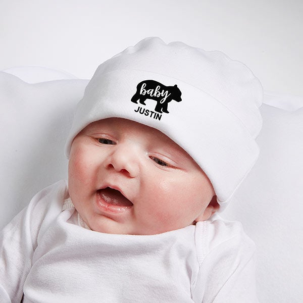 9de044317 Baby Bear Personalized Baby Hat