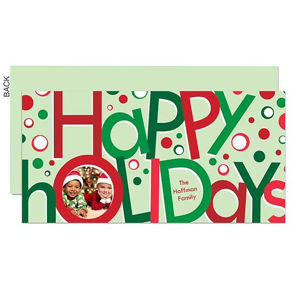 Holiday Circles Photo Postcards - 22105