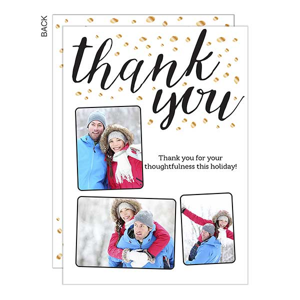 Thank You Sparkle Holiday Photo Cards - 22114