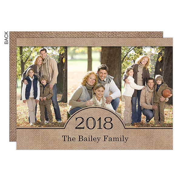 Burlap Holiday Photo Cards - 22118