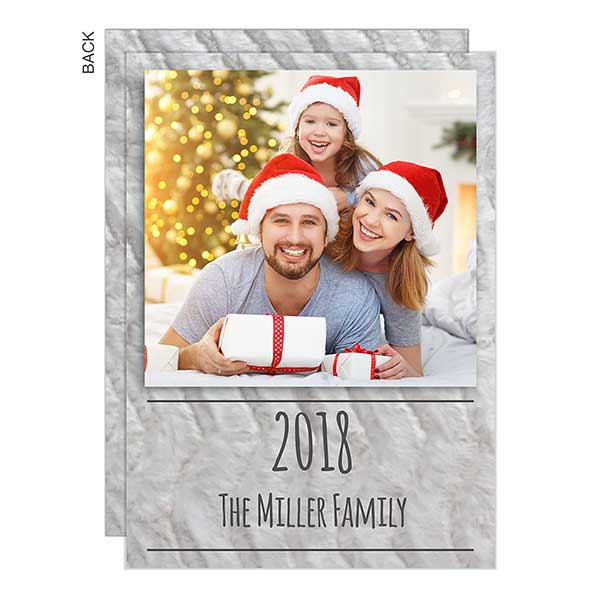 Neutral Grey Photo Holiday Cards - 22126