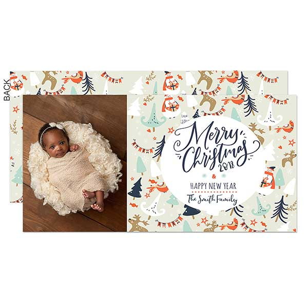 Cute Characters Photo Holiday Postcards - 22134