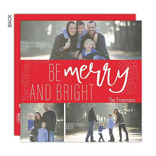 Merry and Bright Photo Holiday Cards - 22136