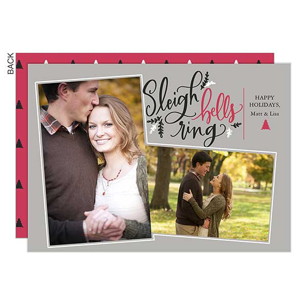 Sleigh Bells Ring Photo Holiday Cards - 22139
