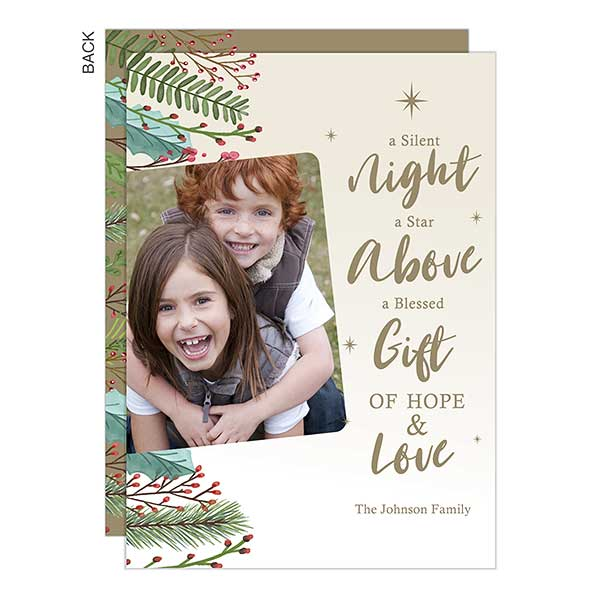 Silent Night Photo Holiday Cards - 22153