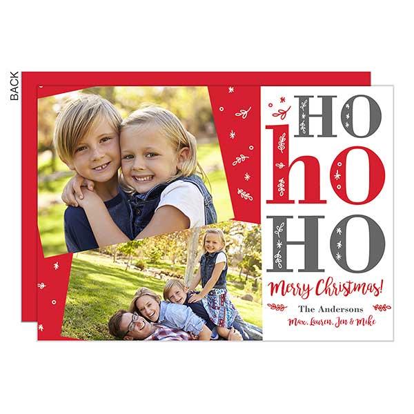 Ho Ho Ho Photo Holiday Cards - 22154