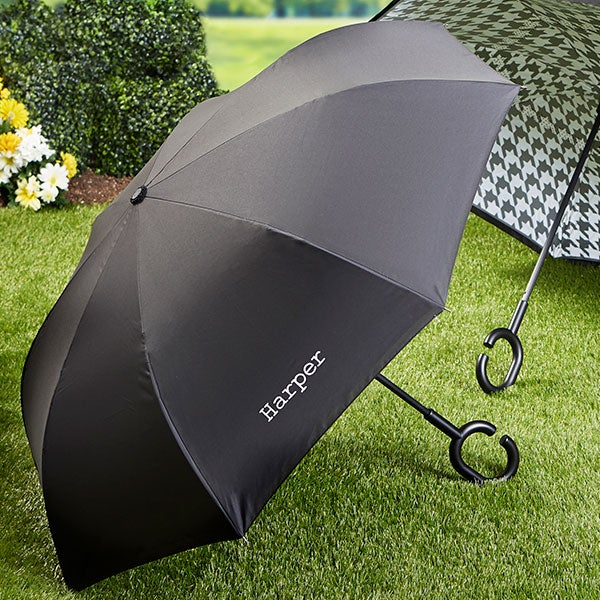 Personalized Embroidered Inverted Umbrella - Reverse Umbrella - 22167