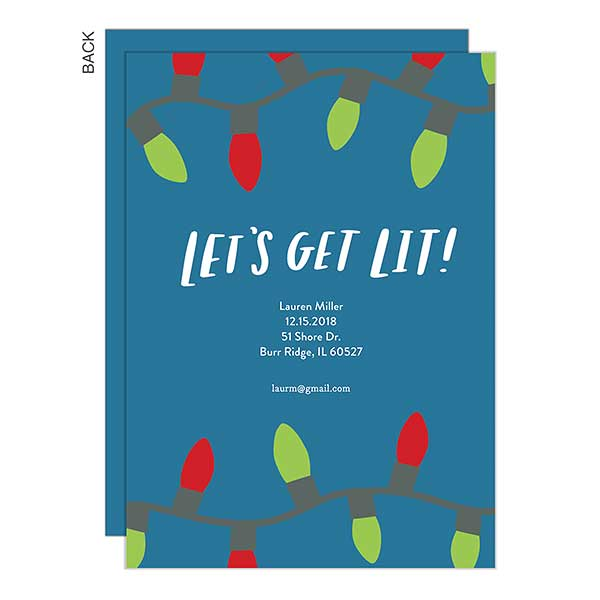 Let's Get Lit! Holiday Party Invitations - 22181