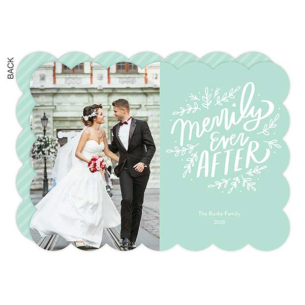 Merrily Ever After Photo Holiday Cards - 22188
