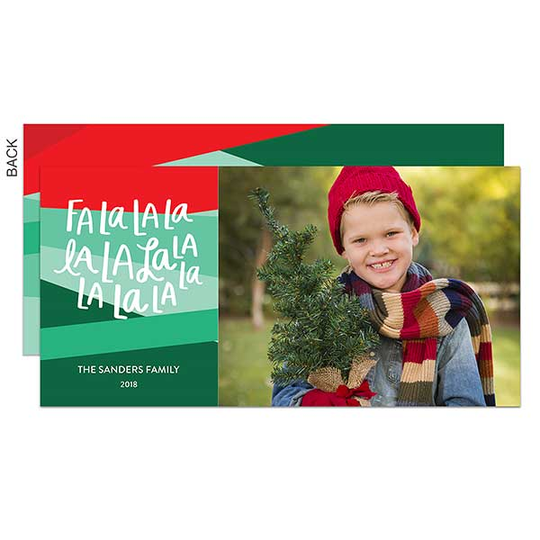 Fa La La Triangle Photo Holiday Postcards - 22197