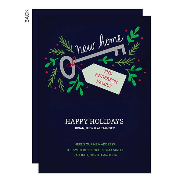 Key To New Home Holiday Card Holiday Stationery