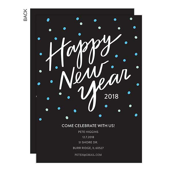 happy new year personalized party invites 22207