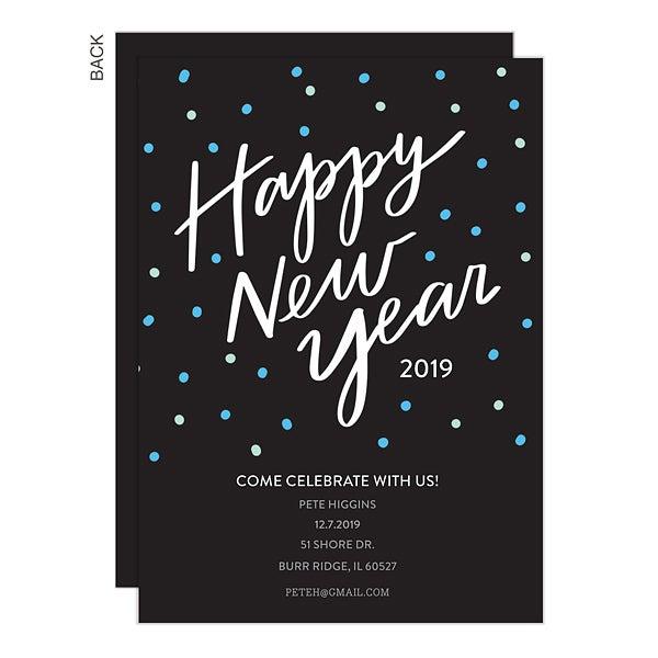 Happy New Year Party Invite