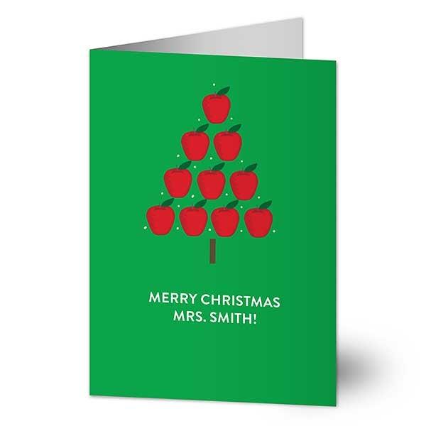 Teacher Apple Tree Holiday Greeting Cards - 22209