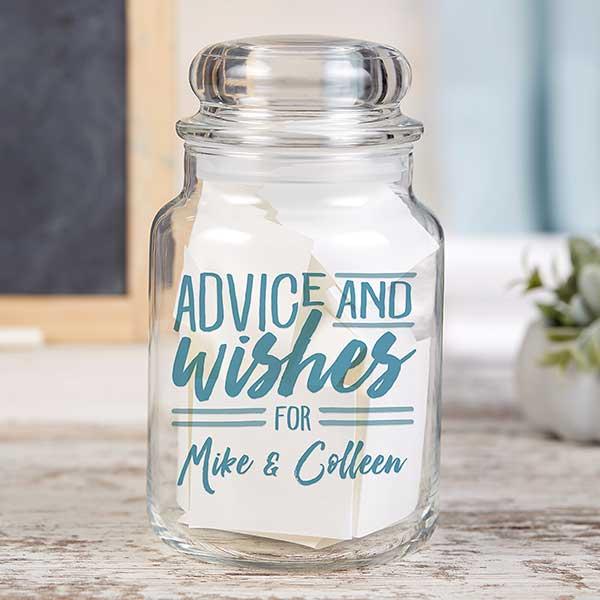 Personalized Wedding Advice Wish Jar