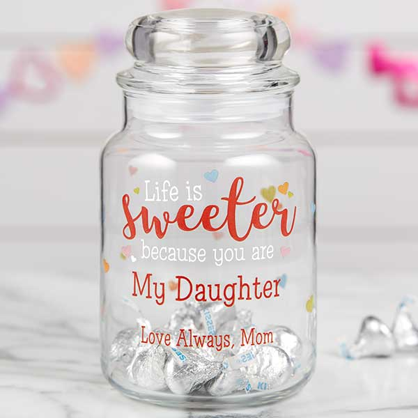 You Make Life Sweet Personalized Candy Jar - 22239