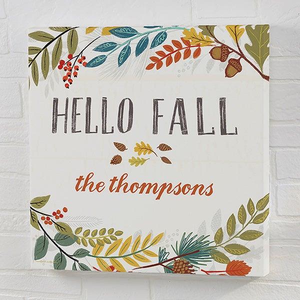 Personalized Canvas Prints - Hello Fall - 22248