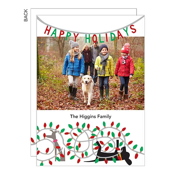 Dogs & Lights Holiday Photo Cards - 22250
