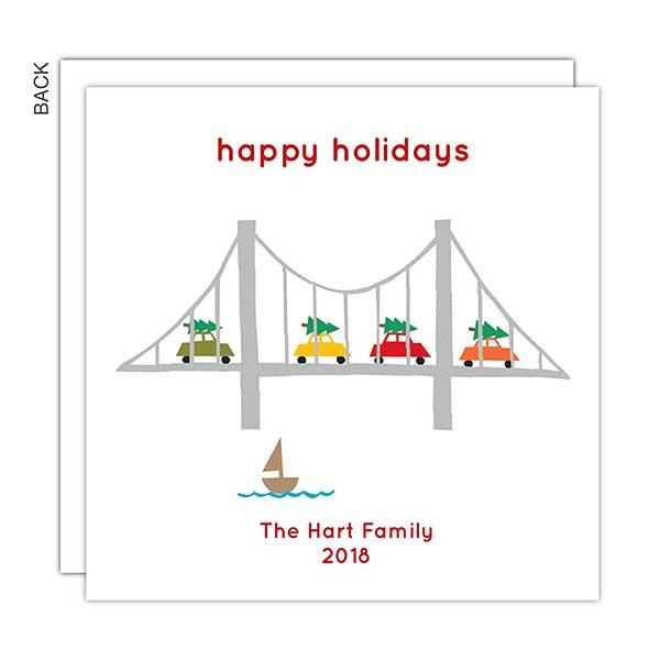 Bridge Personalized Holiday Cards - 22256