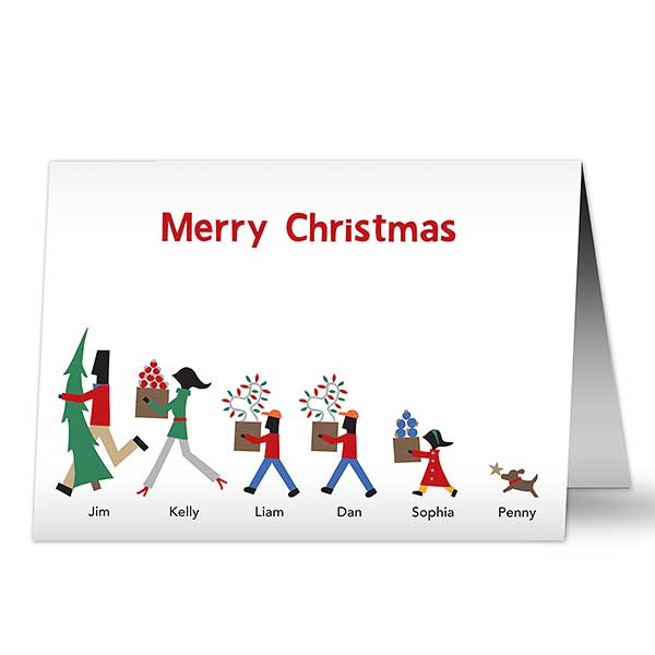 Christmas Stationery.Family Decorators Premium Christmas Card