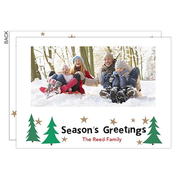 Simple Sparkle Photo Holiday Cards - 22277
