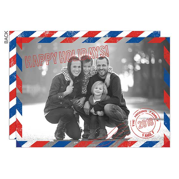 Vintage Mail Photo Holiday Cards - 22283