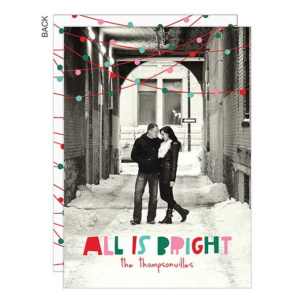 All Is Bright Photo Holiday Cards - 22285