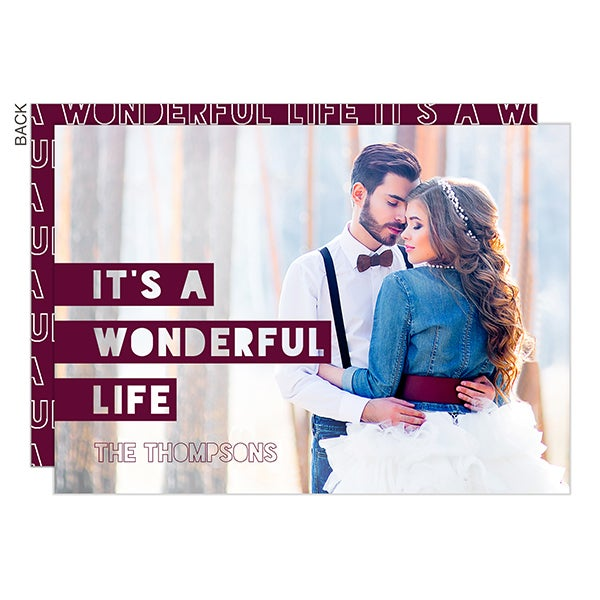 It's a Wonderful Life Photo Holiday Cards - 22286