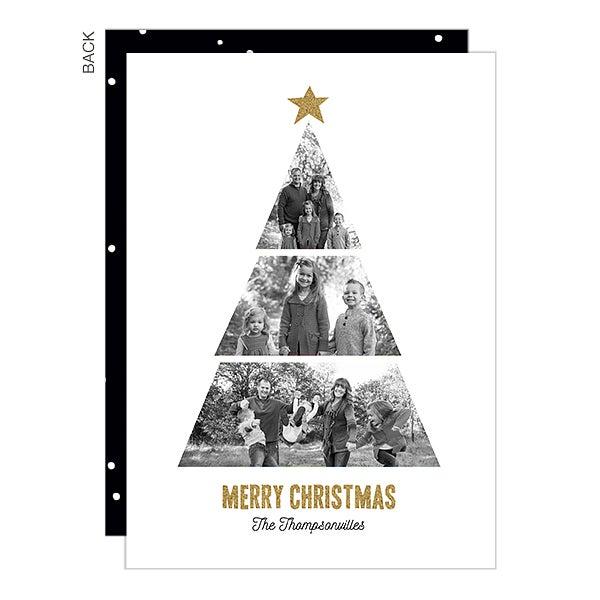 Christmas Photo Tree Custom Holiday Cards - 22288