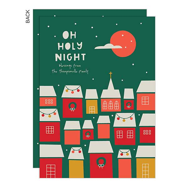 Oh Holy Night Personalized  Holiday Cards - 22292
