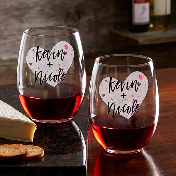 So In Love Personalized Valentine's Day Couple Glasses - 22301