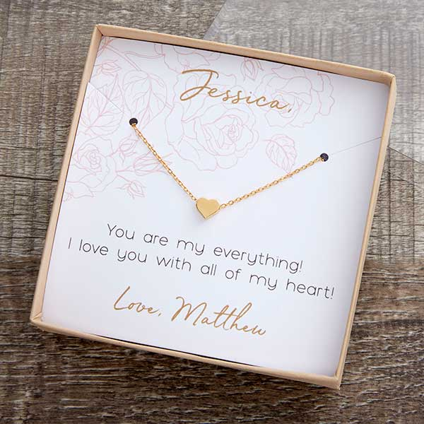 Classic Romance Necklace With Personalized Display Card - 22310